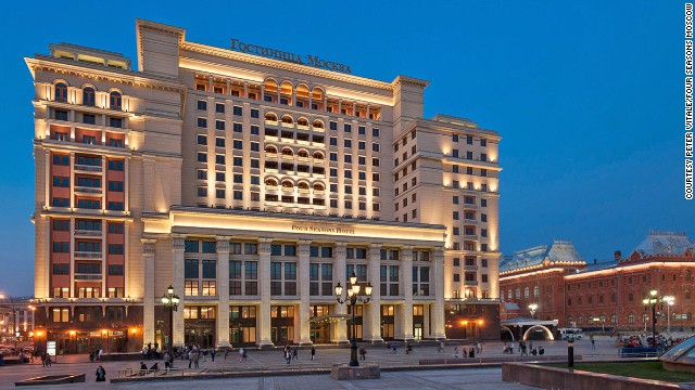 The Four Seasons Moscow sits across the street from Bolshoi Theatre and is adjacent to Red Square. Guests get a Nespresso machine, Roberto Cavalli bathroom amenities and in-room iPad.