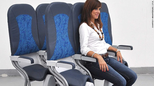 """According to an aerospace engineering professor in Malaysia, the near-vertical passenger seat, or """"standing cabin,"""" may be the next big cost-cutting move in aviation."""