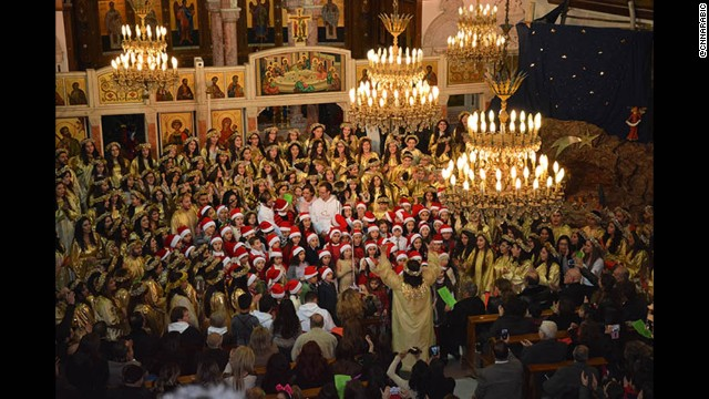 SYRIA: Christmas celebrations at the Lady of Damascus Church. Photo by @cnnarabic, December 25.