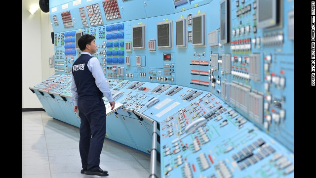 <strong>December 22: </strong>In this photo provided by the Korea Hydro & Nuclear Power Co., workers participate in an anti-cyberattack exercise at Wolsong power plant in Gyeongju, South Korea.