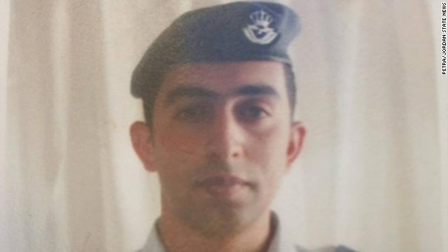 Pilot Moaz al-Kassasbeh pictured in his air force uniform before his capture.