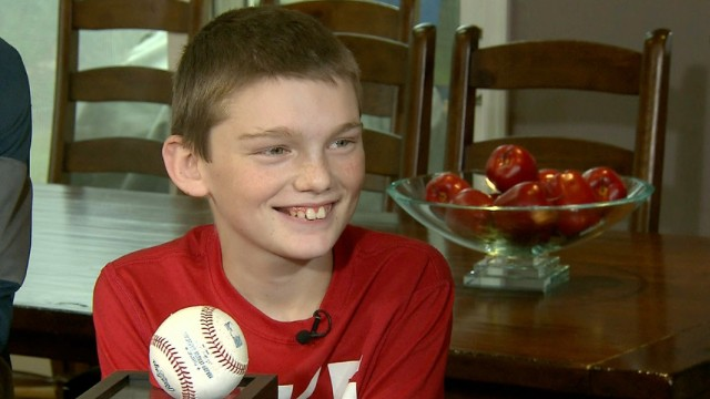 One boy's inspirational gesture