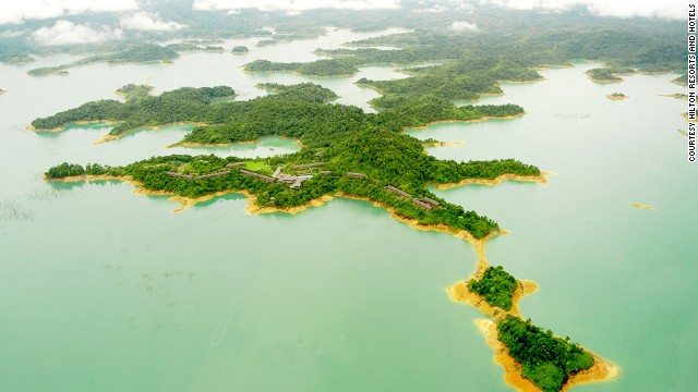 The Batang Ai Reservoir is a man-made body of water deep in Borneo's Sri Aman region, a sanctuary for one of the few wild orangutan populations in Borneo.