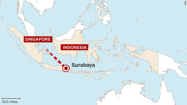 AirAsia Flight QZ8501 was on its way to Singapore when it disappeared in Indonesian airspace.