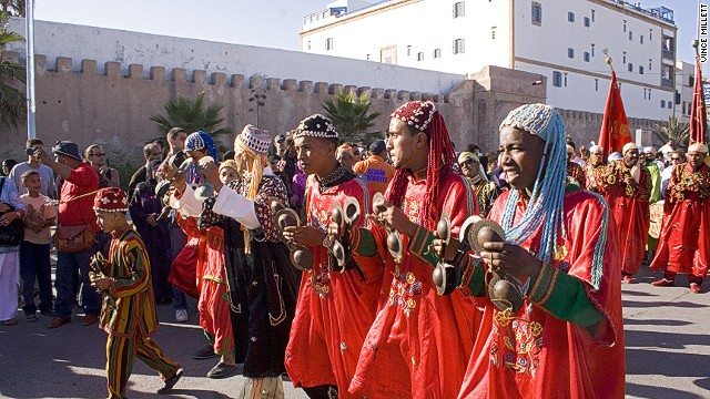 Acts come from all over Africa to perform at Morocco's annual Gnaoua World Music Festival, held in 2015 in May.