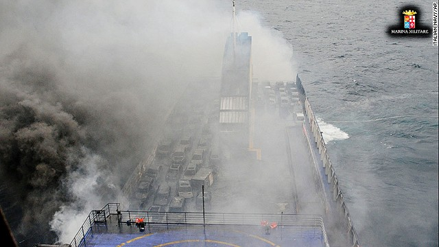 On December 28, a fire broke out on a ferry traveling from Greece to Italy. At least 10 people died, and as many as 427 were saved in dramatic fashion in choppy seas.
