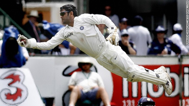 Mahendra Singh Dhoni retires from Test match cricket - CNN.com Ms Dhoni Wicket Keeping Diving