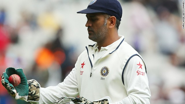 MS Dhoni leaves the field on day five of the Third Test match between Australia and India at Melbourne Cricket Ground. His 90th Test match proved to be his last for India.