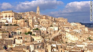 Rock town: Matera is built on a precipice of ancient stone.