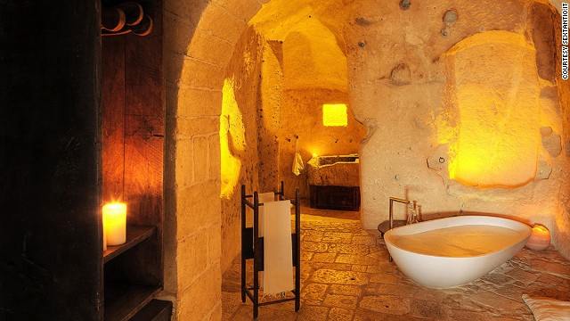 The basic but upscale rooms at Grotte della Civita are ideal for anyone looking to do some soul searching.