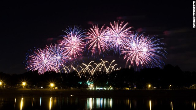 Fireworks illuminate the sky in Zagreb, Croatia, during the <a href='http://ireport.cnn.com/docs/DOC-809469'>International Fireworks Festival</a> in June 2012.