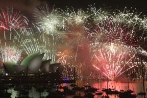 El mundo festeja la llegada del 2015