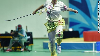 Balletic beauty of Wushu martial artist