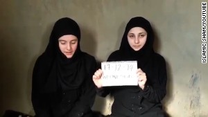 Two young women went missing and were believed kidnapped after they traveled to Syria in late July.