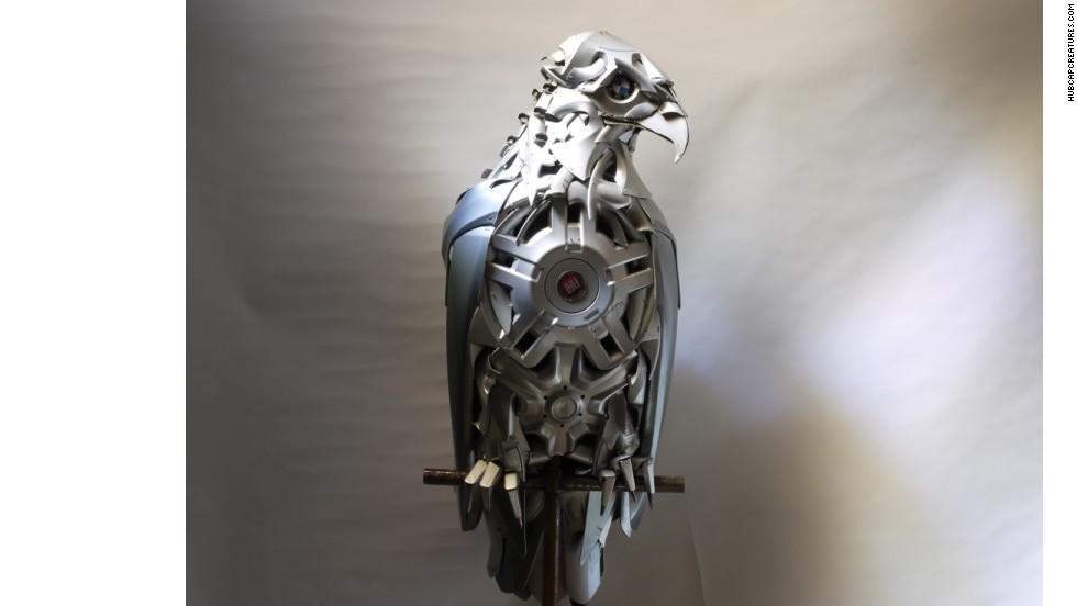 Arte con partes de autos