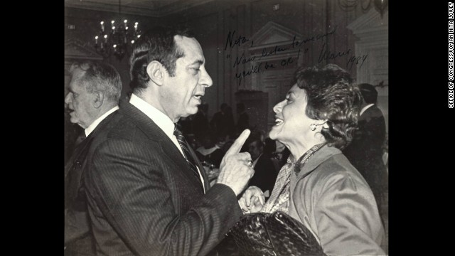 Former New York Gov. Mario Cuomo and Congresswoman Nita Lowey