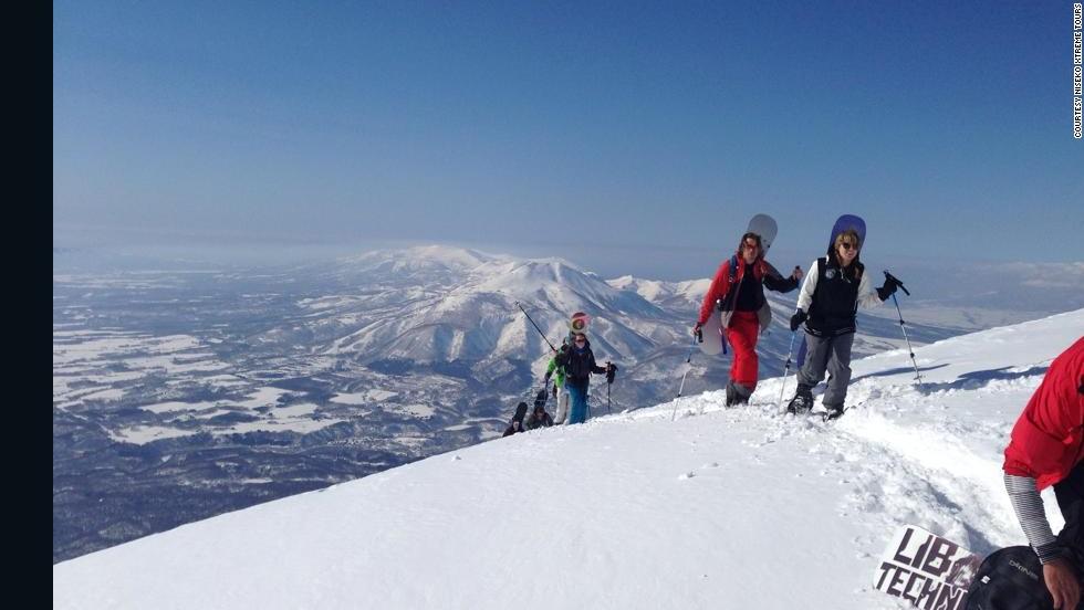 Esquiando sobre un volcán
