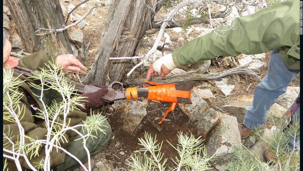 Encuentran un rifle Winchester de 132 años en un árbol