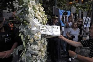 El funeral de Alberto Nisman