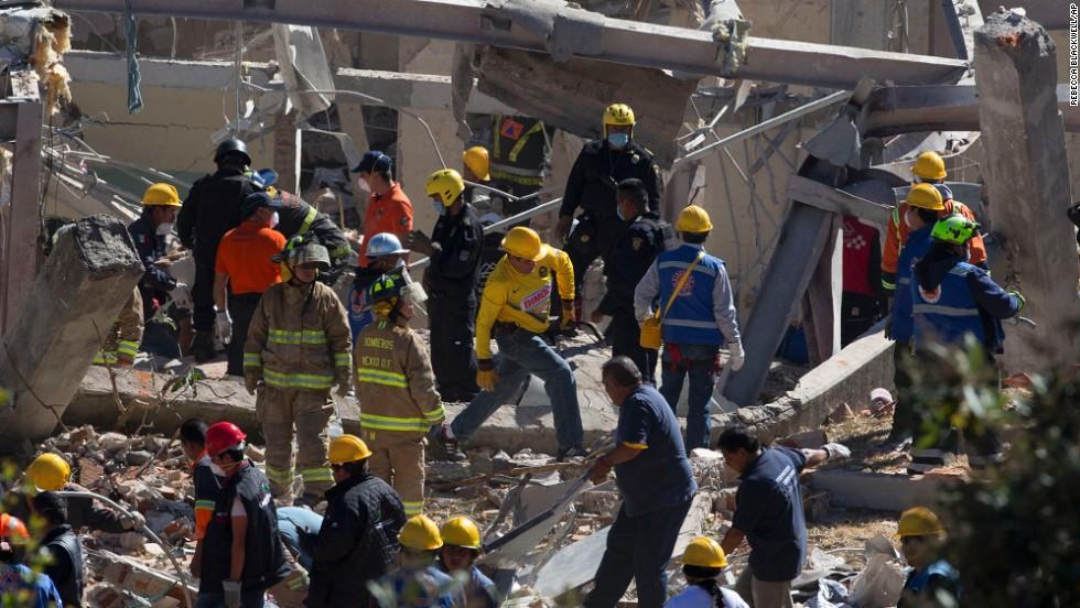 Explosión en un hospital de México