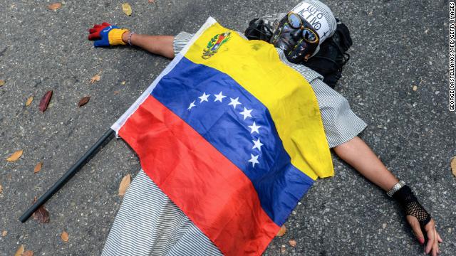 Estudiantes protestan en Venezuela