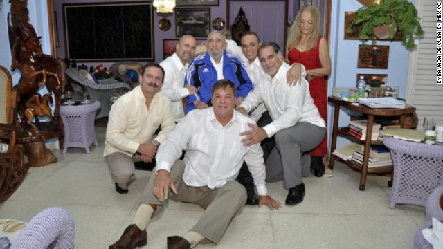 Fotos de Fidel Castro con los cinco agentes cubanos