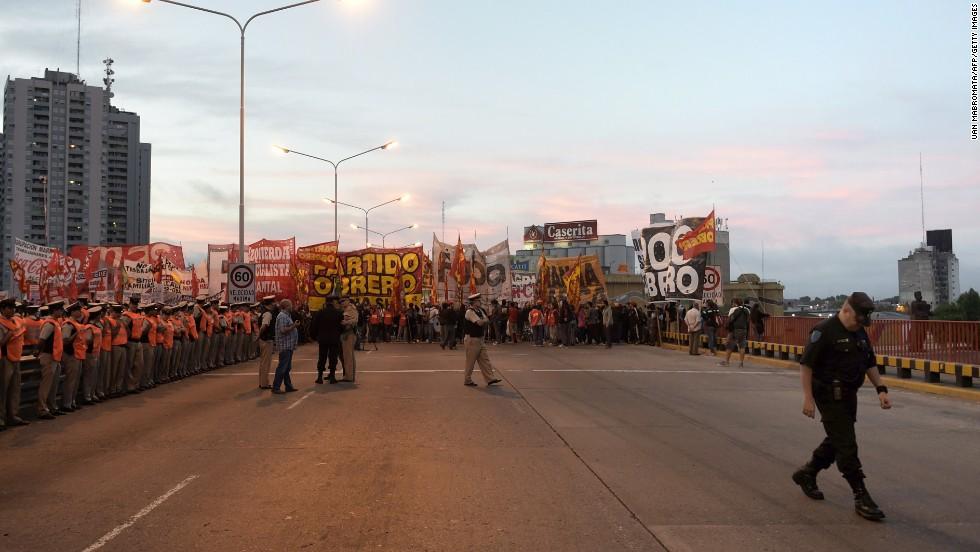 Huelga nacional en Argentina