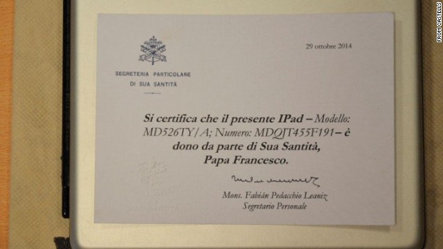 El iPad del papa Francisco