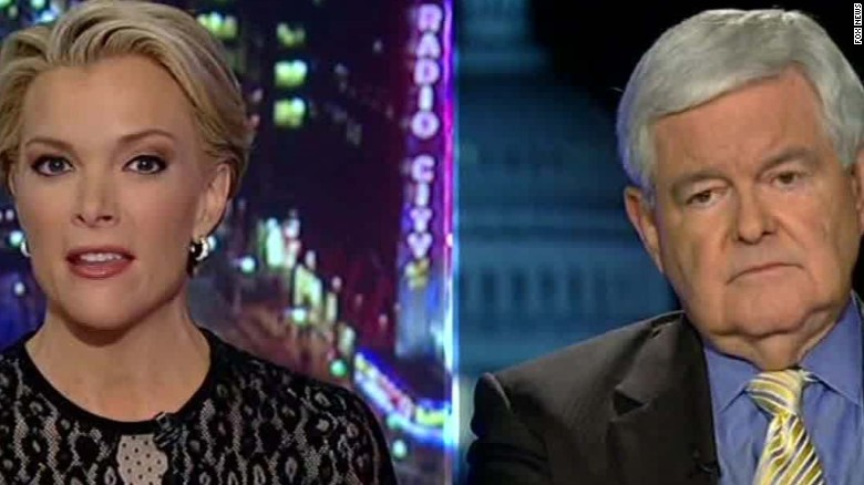 Image result for megyn kelly and newt gingrich