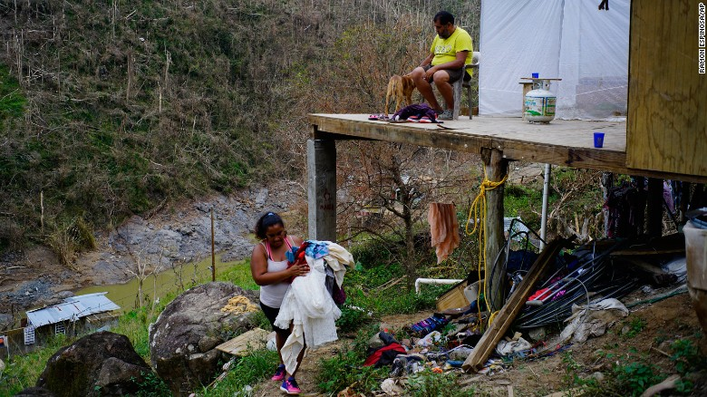 Many Still Without Water In Puerto Rico