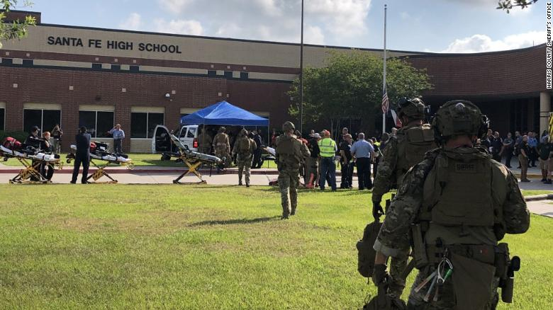 Image result for SANTA FE, Texas - Houston area media citing unidentified law enforcement officials report deaths after a shooting at a local high school on Friday morning.