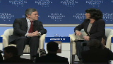 British PM speaks in Davos