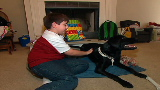 Autistic boy aided by 'therapist' dog