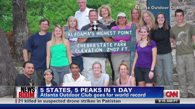 Hikers climb five mountain summits in one day