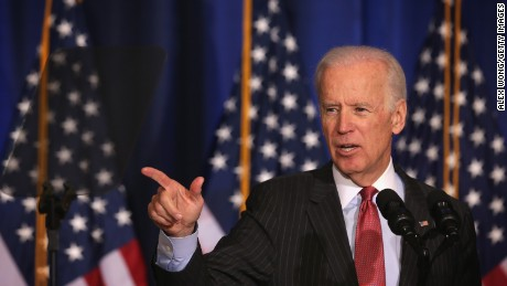 U.S. Vice President Joseph Biden delivers remarks on U.S. policy in Iraq at the National Defense University April 9, 2015 in Washington, D.C.