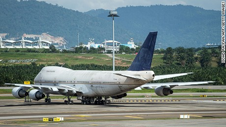 A Boeing 747-200F plane with the registration number TF-ARM is viewed parked on the tarmac in Kuala Lumpur Air-port (KLIA) inside Sepang