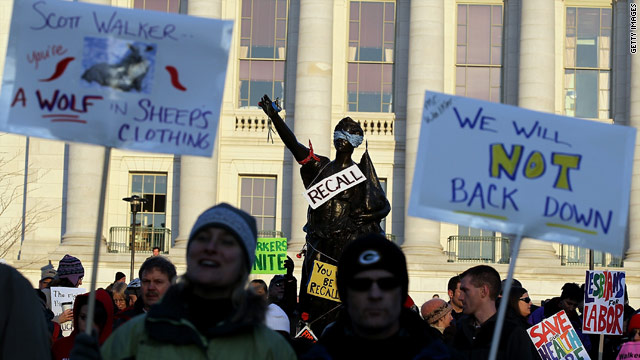 The state Capitol in Madison became a scene of fierce protests in 2011 after Gov. Scott Walker's moves on public sector unions.