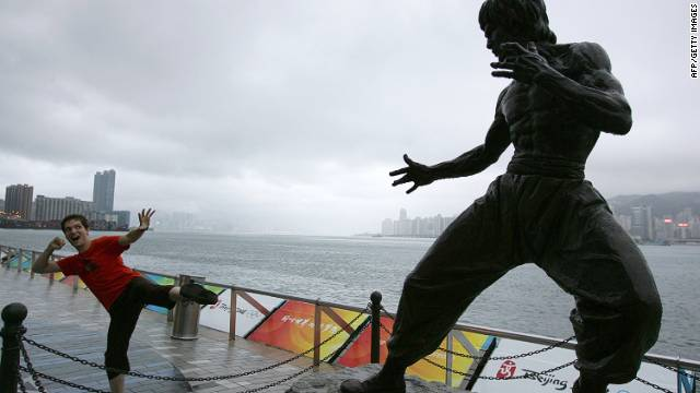 Hong Kong's statue of Bruce Lee is a tourist favorite.