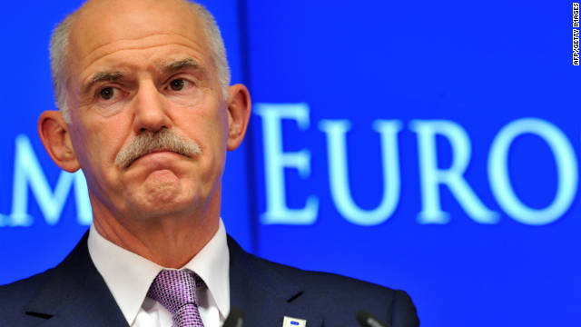 Greek Prime Minister George Papandreou has been under intense pressure during the Greek debt crisis
