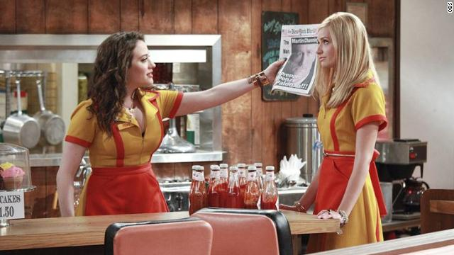 """Two Broke Girls"" stars Kat Dennings and Beth Behrs as a modern-day ""Laverne & Shirley."""