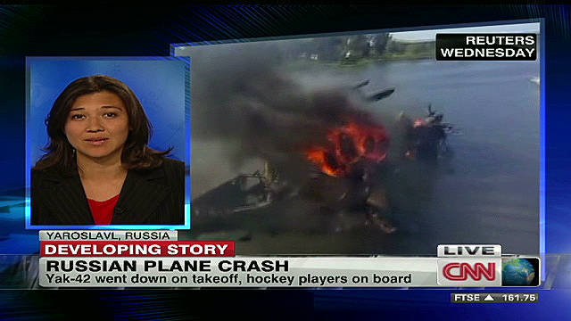 Plane with hockey team onboard crashes