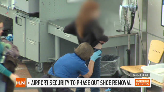 Soon: Shoes stay on at airport security