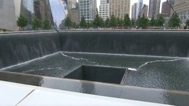 There are two reflecting pools at the New York memorial to the victims of September 11, 2001.