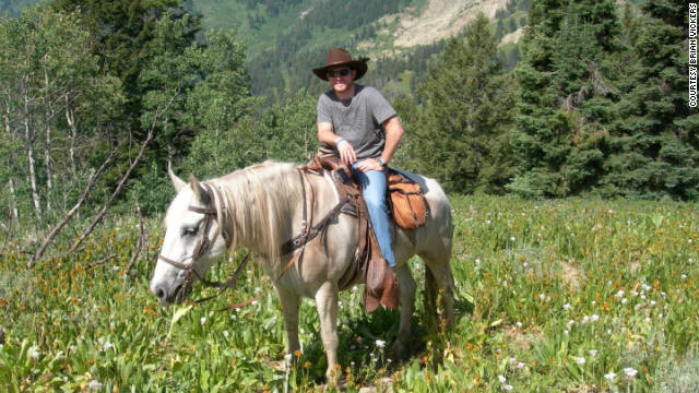 Brian Vickers goes for a different kind of ride in Jackson Hole, Wyoming.