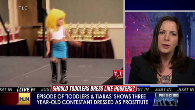 Toddlers dressed like hookers?