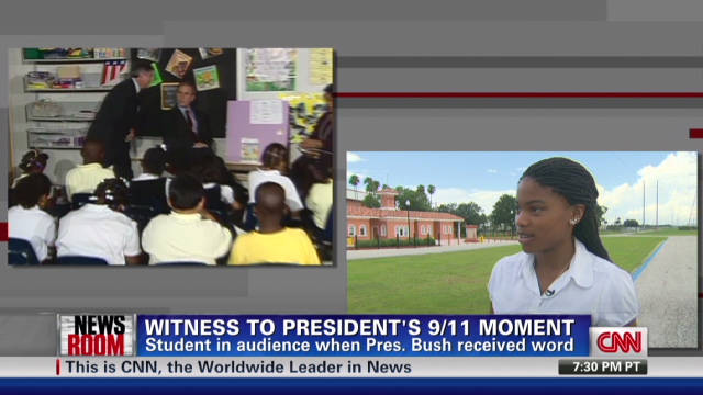 Witness to Bush's 9/11 moment