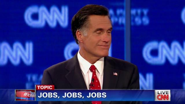 Romney, Perry, Paul spar over jobs
