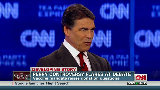 Perry's HPV vaccine effort under fire