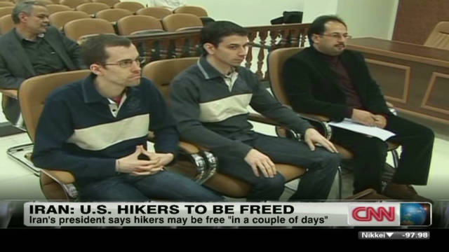 Iran: U.S. hikers to be freed