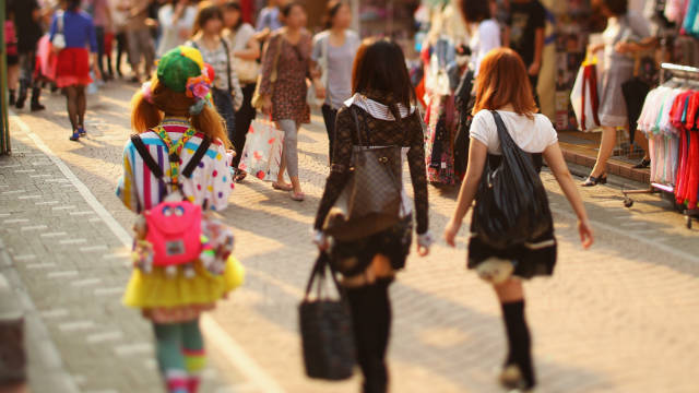 On Tokyo's streets bright colors didn't go away after the earthquake and tsunami in March